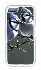 Blue Jay Bird Masterpiece Limited Design DIY Case for iphone 5c iphone 5c TPU White by Cases & Mousepads