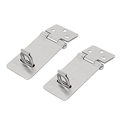 uxcell Door Gate Shed Padlock 2 Inch Length Stainless Steel Swivel Hasp Staple 2 Pcs