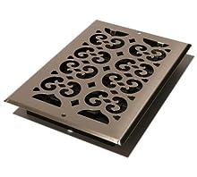 Decor Grates SP610W-NKL Scroll Steel Plated Wall Register, 6 x 10-Inch, Nickel