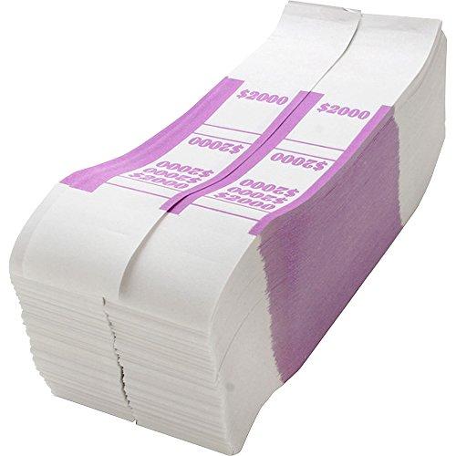 Sparco BS2000WK Bill Strap, 2000, 1000/PK, White/Violet