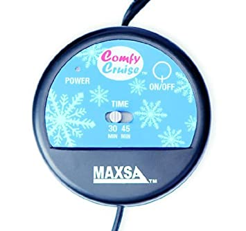 Navy Blue MAXSA 20013 Large Heated Travel Blanket for In-Vehicle Usage with 12-Volt Car Adapter and Safety Timer 41 x 57