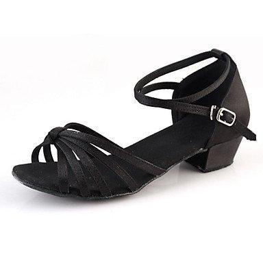 Misteriosa directa @ Suede y ante Latina zapatos de baile de tacón para mujer Chunky talón exterior negro plata oro leopardo