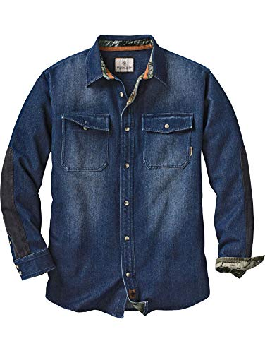 Legendary Whitetails Men's Shed Bounty Heavyweight Denim Shirt Indigo Medium