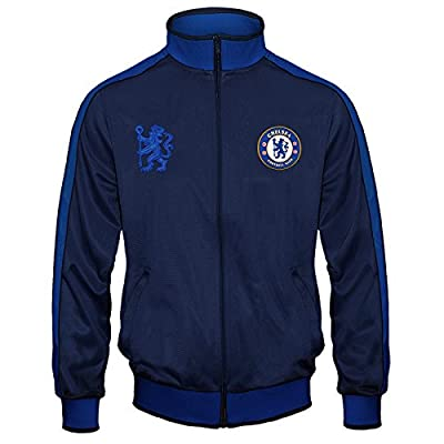 Chelsea Football Club Official Soccer Gift Mens Retro Track Top Jacket