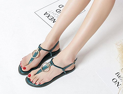 5 Flip Roman Strap T US7 Toe CN38 MEILI 5 Sandalias Herringbone Zapatos Zapatos EU38 UK5 vx5IYq