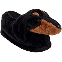 Dachshund Slippers - Plush Dog Slippers w/Platform by Silver Lilly