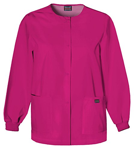 Cherokee Women's Snap Front Warm-Up Jacket_Raspberry_XXXXX-Large,4350