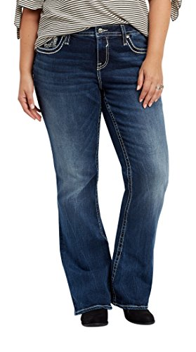 Back Flap Pocket (Maurices Women's Vigoss Plus Size Dark Wash Bootcut Jeans With Back Flap Pockets 18 Dark Sandblast)