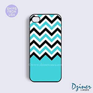 iPhone 5c Tough Case - Blue Chocolate Chevron iPhone Cover