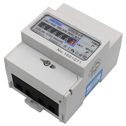 Baomain DDS238-4-R DIN-rail Single Phase Three Wire Energy Meter 110V 220V 60Hz 10 (100)A