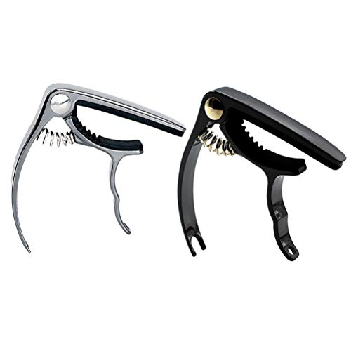 SUPVOX-2pcs-Metal-Guitar-Capo-Trigger-Guitar-Capo-Trigger-Quick-Change-Capos-for-Bass-Acoustic-Classic-Electric-Guitars-Ukulele-Banjo-Mandolin
