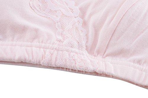 Seamless Sujetador Mujer, KUCI® Maternidad Inconsútil del Abrigo de Enfermería del Sueño Sujetador de Lactancia Materna Grey+Pink