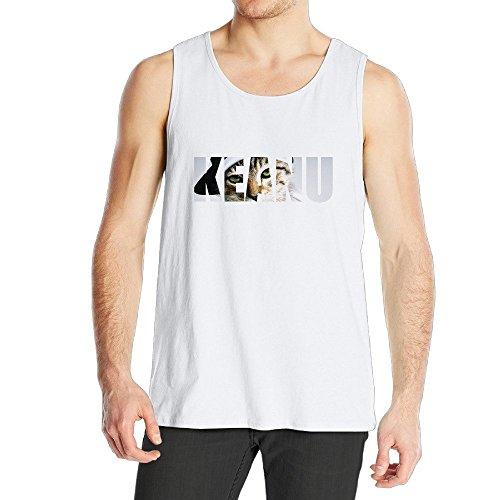 SAXON Funny Vest For Men Animated Cool Cat Size XXL White - Breed Shirt Denim