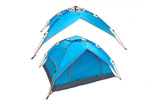 RIGMA 2-3 Person Automatic Tent for Camping - Instant, Hydraulic Sun Shelter - Pop up Canopy - Lightweight 4 Season Family Camp Tents
