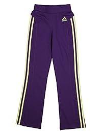 Adidas Big Girl's Yoga Pants with Stripes