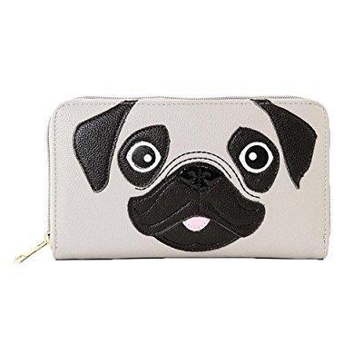 Supper Cute Pug Puppy Dog Zip Around Wallet Handbag ()