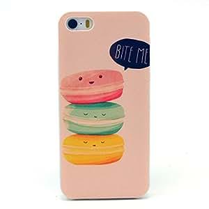 Iphone 5C Case, Bit Me Cute Sandwich Clear Bumper Hard Plastic Case Silicone Skin Cover for Apple Iphone 5C