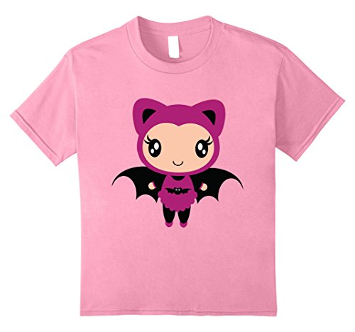 Kids Bat Girl T Shirts Halloween Costume Fun Tee Shirt 8 Pink