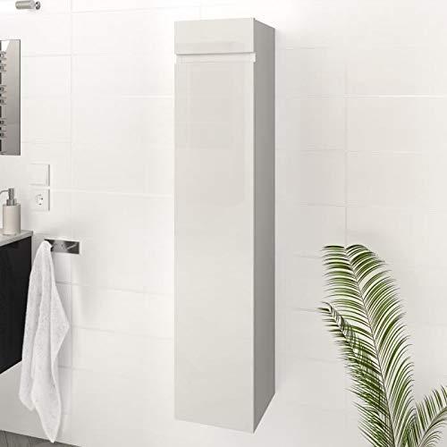 Générique Luna/Lima Colonne de Salle de Bain l 25 cm - Blanc Brillant AUCUNE