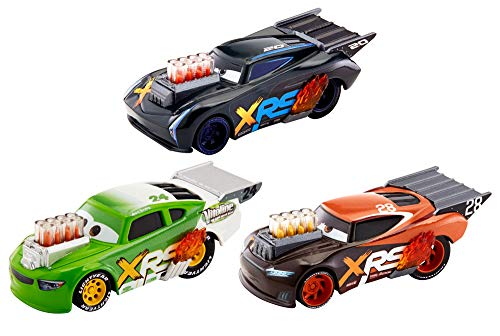 Disney Pixar Cars XRS Drag Racing 3-Pack (1 18 Scale Diecast Drag Racing Cars)