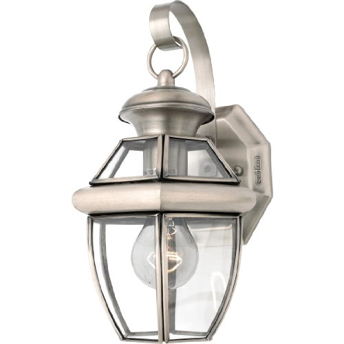 ury Outdoor Wall Lantern Wall Mount Lighting, 1-Light, 150 Watt, Pewter (12