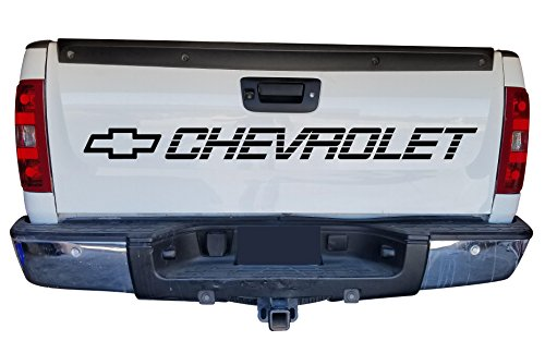 Chevy Silverado Decals - CHEVROLET Tailgate Bed Decal Sidebed Sticker Silverado SS 1500 350 454 Lettering Vinyl GRAPHICS
