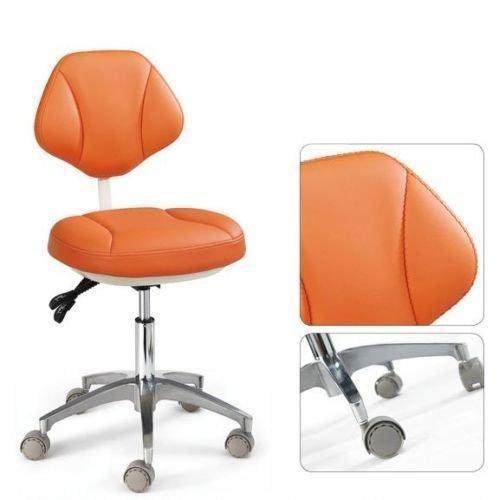 dentallabore Medical Büro des Assistenten Hocker verstellbar Mobile Stuhl Leder orange