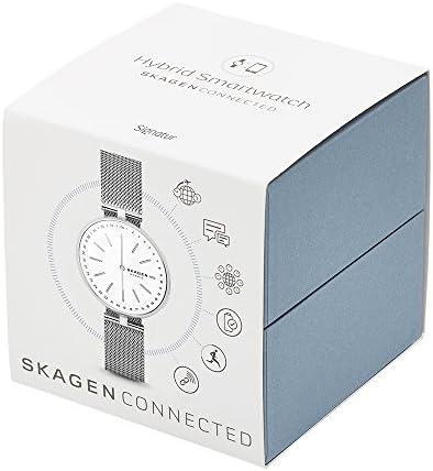 Skagen Connected Women's Signatur T-Bar Stainless Steel Mesh Hybrid Smartwatch, Color: Silver (Model: SKT1400) 7