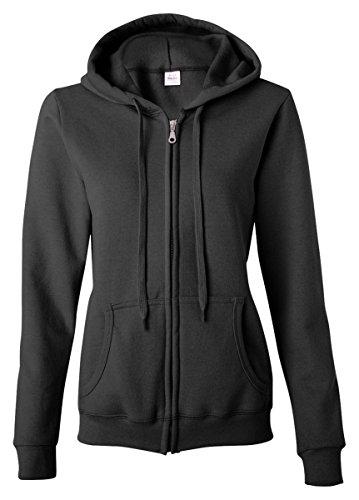 Gildan Activewear Heavy Blend Ladies' Full-Zip Hooded Sweatshirt, 3XL, Black