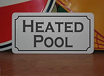 Desconocido Cartel de Metal para Piscina climatizada para Hotel, Motel, Gimnasio, Patio Trasero