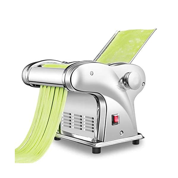 CGOLDENWALL Macchina per la Pasta Elettrico Wonton Maker Acciaio Inossidabile 6 Regolabile per Spaghetti Pasta e Lasagne… 1