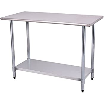 stainless steel commercial kitchen work tables table prep restaurant bench drawers