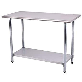 Amazon.com: Goplus Stainless Steel Work Table Prep Work Table for ...