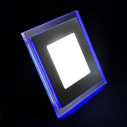 g.w.s ® chromspiegel azules borde cuadrado LED vertiefte ...