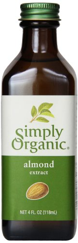- Simply Organic Almond Extract, Certified Organic, 4-Ounce Container