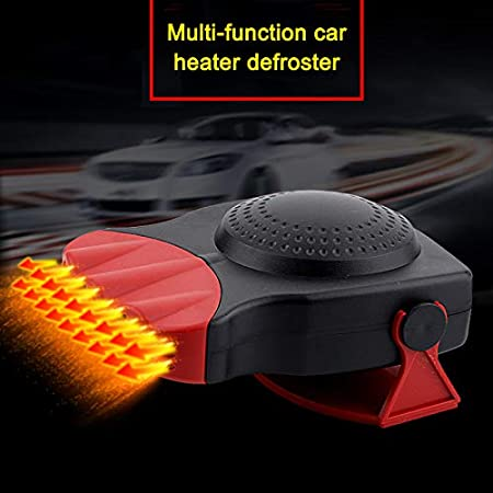 lzndeal Defrost Defog Mini Car Heater Electric Fan Windshield Windows Glass Heated Device