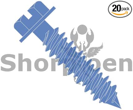 1//4 x 2-1//4 SHORPIOEN Hex Flanged Concrete Screw , Blue Pack of 50