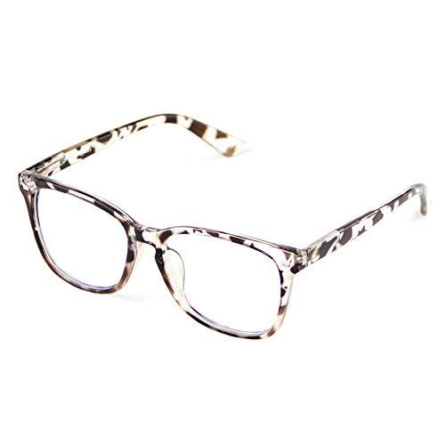 Cyxus Blue Light Blocking [Spring Hinge]Glasses, Clear Lens Leopard Print - Glasses Frames Print Leopard