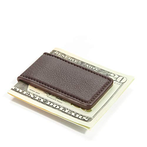 Leatherology Men's Magnetic Money Clip - Full Grain Leather - Chocolate (brown) ()