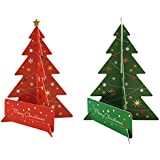 Merry Christmas Greeting Cards, Creative 3D Christmas Trees Design/Best Gift Greeting Cards - Cards & Envelopes - Best Gift Cards for Kids, Families, Friends, Colleague(2 Pack)
