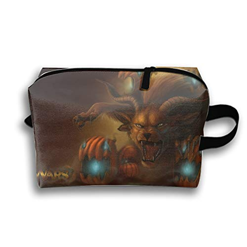 Hanging Storage Bag Halloween Guild Wars Cosmetic Bag Carry Toiletry Case -