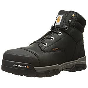 Carhartt Men's Ground Force 6-inch Black Waterproof Work Boot - Composite Toe, Black Oil Tanned, 10M US - CME6351