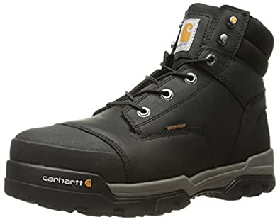 Carhartt Men's Ground Force 6-Inch Black Waterproof Work Boot - Composite Toe, Black Oil Tanned,  8M US - CME6351