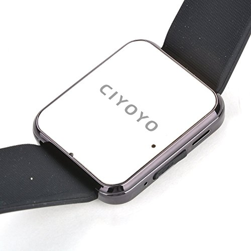 CIYOYO U8S Waterproof Smart Watch Phone Mate With Sync/Bluetooth 3.0/Anti-lost Alarm for Apple iphone 4/4S/5/5C/5S/6 Android Samsung S2/S3/S4/Note 2/Note 3 HTC Sony With CIYOYO Earphone Color Black