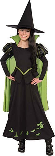 UHC Girl's Wizard of Oz Wicked Witch Fancy Dress Child Halloween Costume, Child L (12-14)
