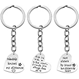 iWenSheng Friendship Gift for Women - Friendship Keychain Set, Pack of 3PCS, Birthday Gift for Best Friend Female BFF Jewelry (B)