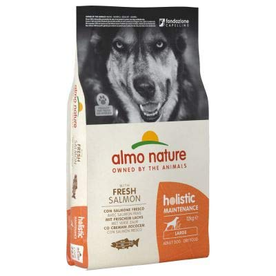 Almo Nature Holistic Dog Food Large Adult Salmon & Rice Balanced dry food for adult large breed dogs 12kg