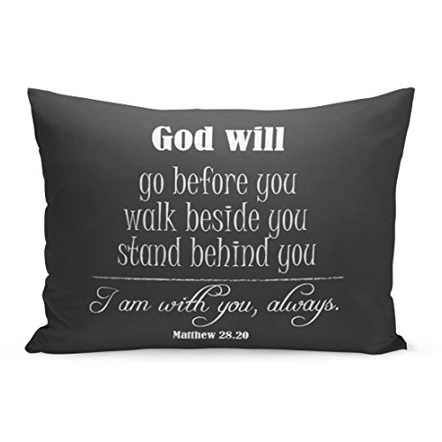 Abakoyi Throw Pillow Cover Christian Inspirational God Will Quote with Bible Verse Faith Decorative Pillow Case Home Decor 20x26 Inches Pillowcase by Abakoyi