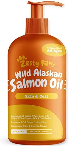 [Zesty Paws] 강아지 연어오일 관절 건강 오메가 3 리퀴드 타입  Natural EPA + DHA Fatty 스킨,코트 건강 도움
