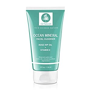 OZ Naturals Facial Cleanser - This Organic Face Wash Is A Superior Cleanser That Deep Cleans & Unclogs Pores With Ocean Minerals, Vitamin E and Rose Hip Oil. This Cleanser For Your Face Will Provide Your Skin With That Healthy, Youthful Glow - 100% Satisfaction Guaranteed!